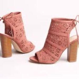 "🌺New Shoe Dazzle ""Charity"" Laser Cut Booties"